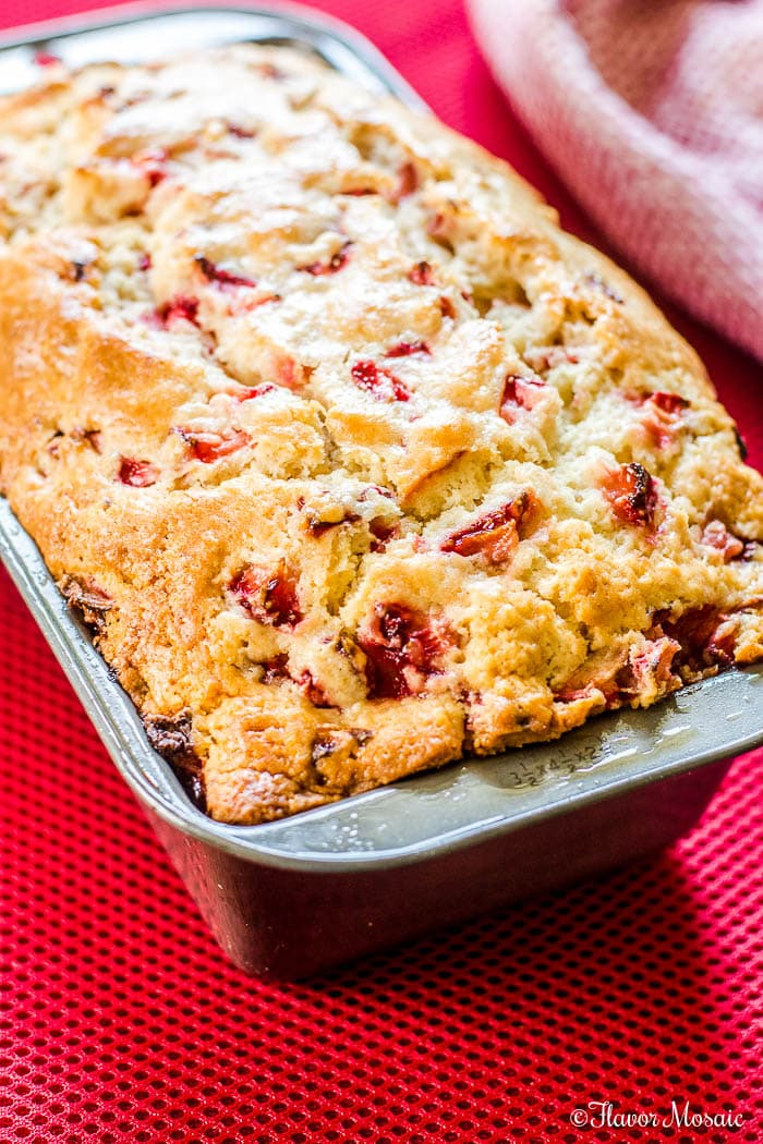 Strawberry Bread (With Fresh Strawberries) - Flavor Mosaic