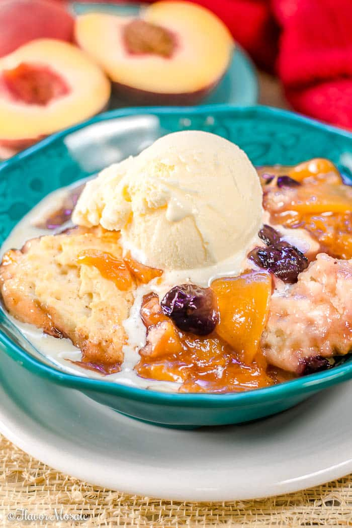 Dutch Oven Peach Cobbler - with fresh peaches