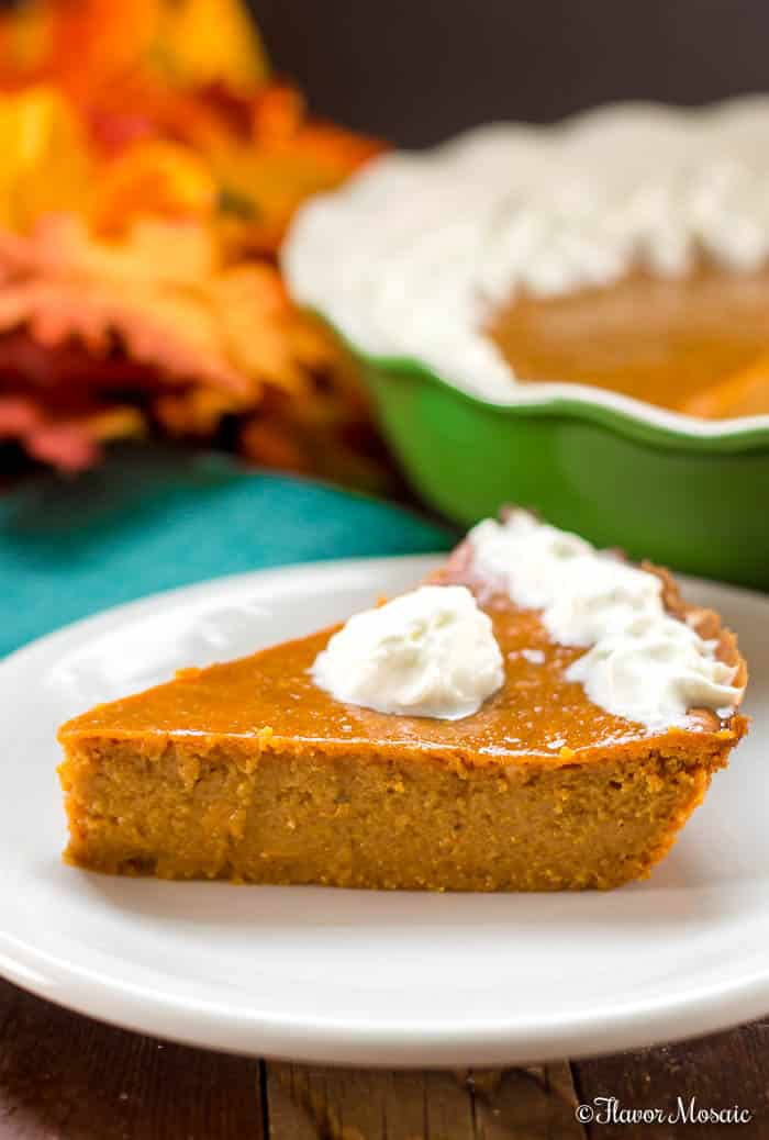 This Crustless Pumpkin Pie keeps only the best part of the pumpkin pie, the pumpkin pie filling, and is so delicious that you won't miss the crust.
