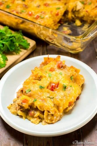 King Ranch Chicken Casserole - individual serving