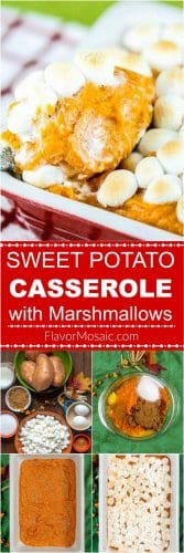Sweet Potato Casserole with Marshmallows Long Pin How To Make Step By Step