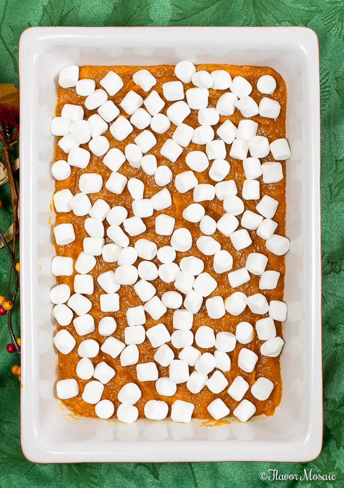 Sweet Potato Casserole with Marshmallows - with marshmallows added