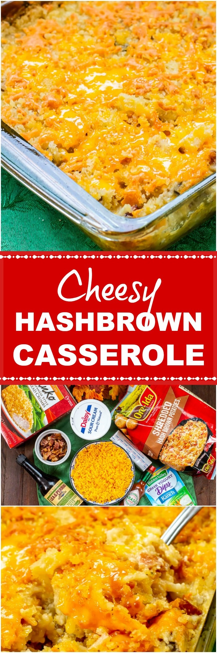 Cheesy Bacon Ranch Hashbrown Casserole Long Pin
