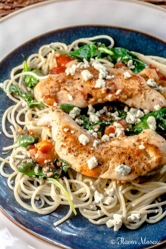Chicken Spinach Spaghetti
