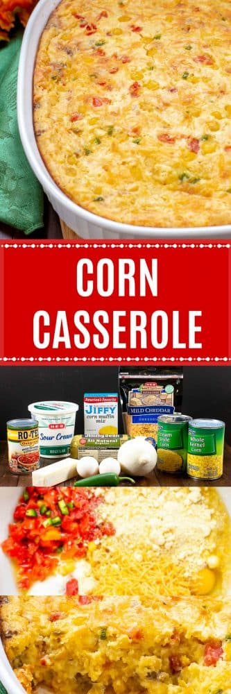 Corn Casserole with Sausage makes a great Thanksgiving side dish.