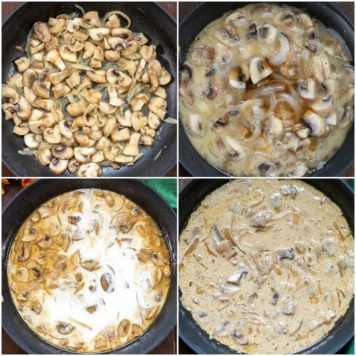 Step by Step Photos for How to Make Marsala Sauce for Stuffed Chicken Marsala