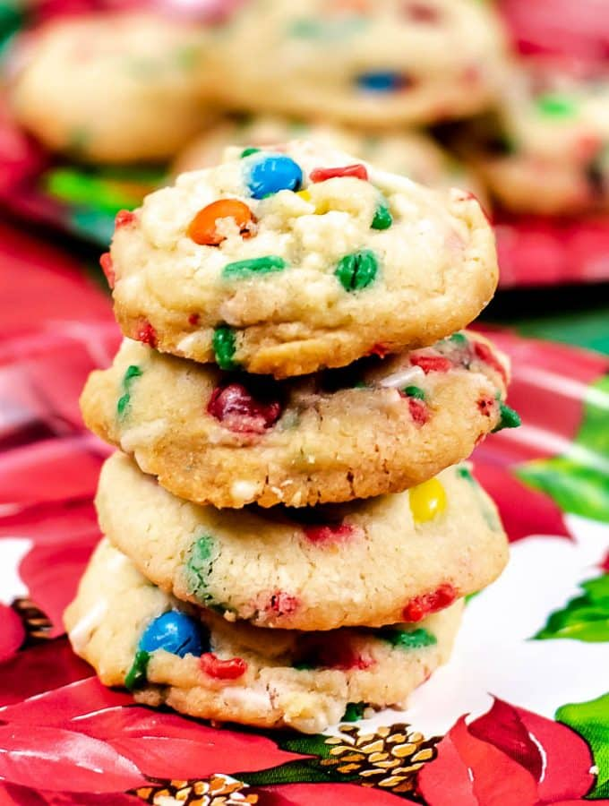 Confetti M&M Cookies - a fun, colorful, festive cookie that is as sweet and delicious as it looks.