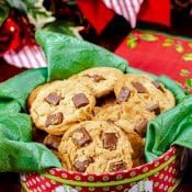 Eggless Peanut Butter Cookies with Chocolate Chips