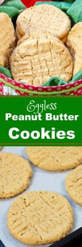 Old Fashioned Eggless Peanut Butter Cookies