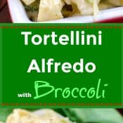 Tortellini Alfredo with Broccoli Long Pin