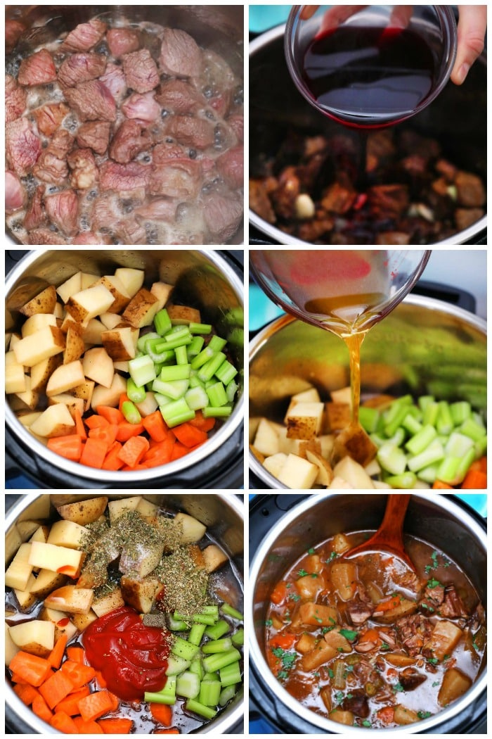 How To Make Instant Pot Beef Stew Step By Step Photo Collage Flavor Mosaic