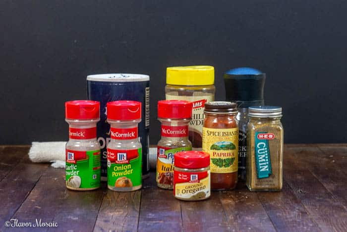 Photo of ingredients to make Homemade Chili Seasoning for Instant Pot Chili