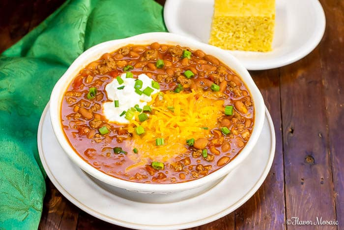 This thick, hearty Instant Pot Chili, or Pressure Cooker Chili, is super flavorful with its homemade chili seasoning! It is easy to make and is now even easier to make in an Instant Pot!