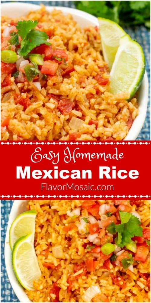 Easy Homemade Mexican Rice lon pin