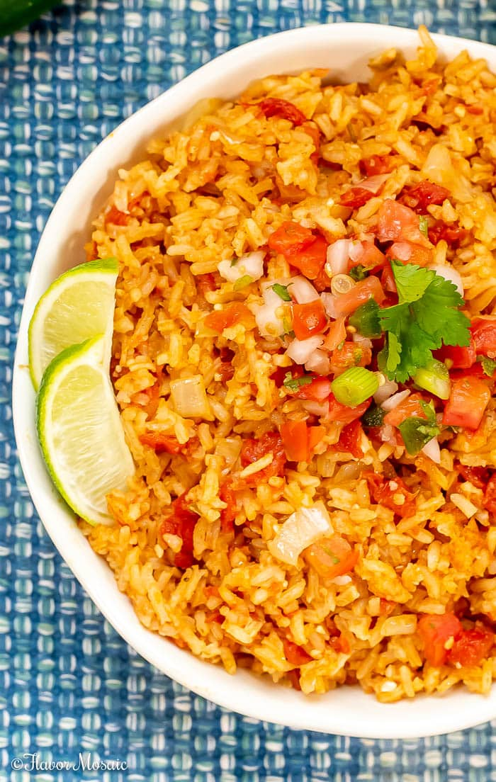 Easy Homemade Mexican Rice Spanish Rice Flavor Mosaic