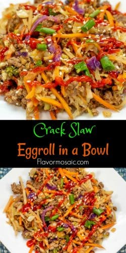 Eggroll in a Bowl Crack Slaw Long Pin