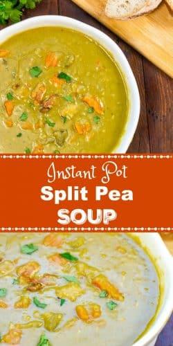 A bowl of Instant Pot Split Pea Soup