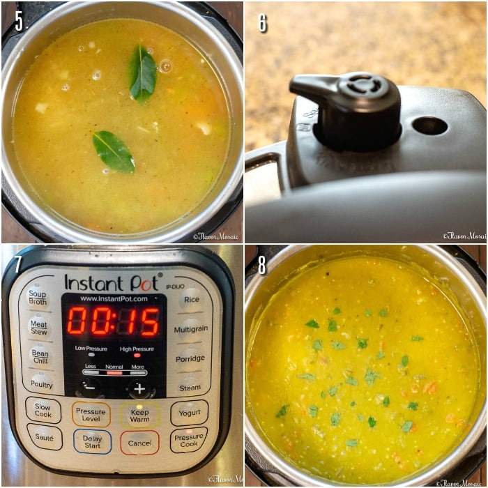 Instant Pot Split Pea Soup Proc Shots Steps 5 - 8