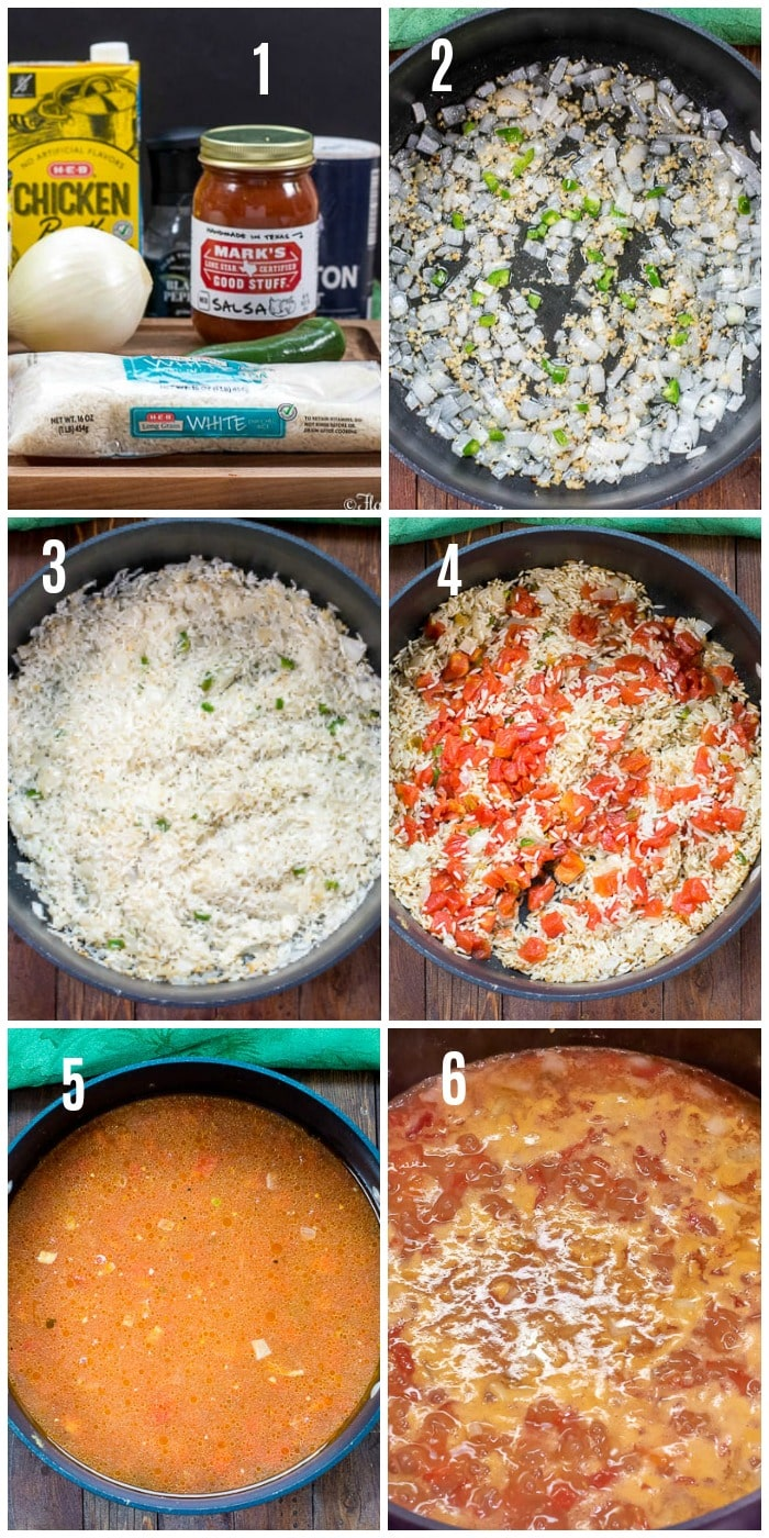Mexican Rice - Spanish Rice - step by step photos of how to make