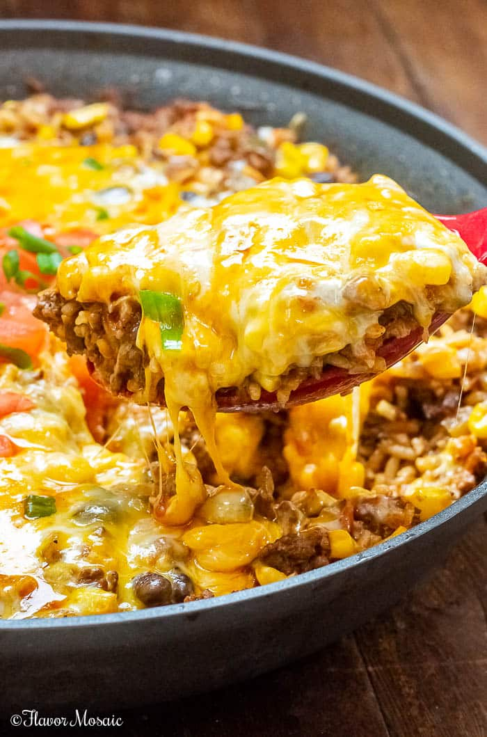 One Pot Mexican Beef and Rice Casserole