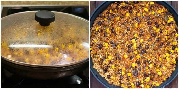 One Pot Mexican Beef and Rice Casserole cooking photos