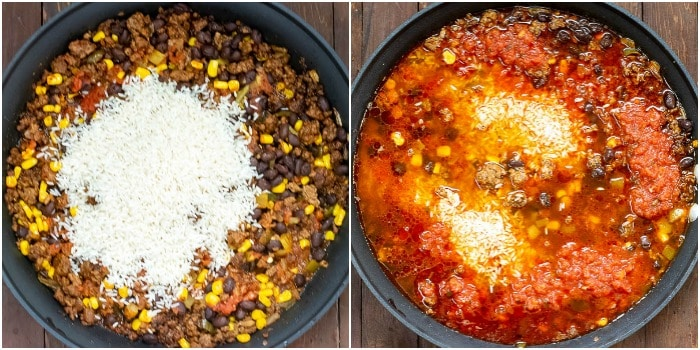 One Pot Mexican Beef and Rice Casserole - cooking photos