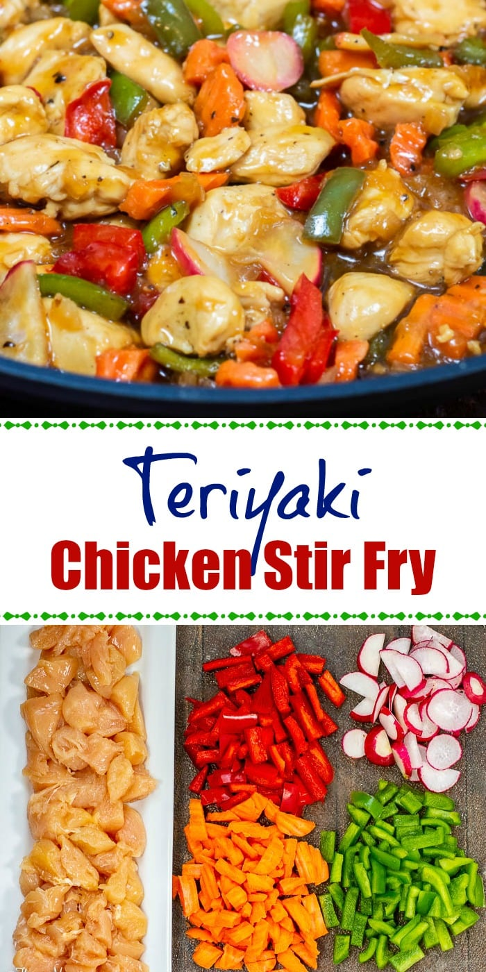 Teriyaki Chicken Stir Fry Long Pin