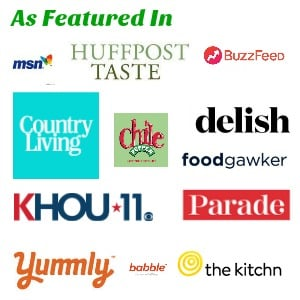 Logos of websites that have featured recipes from FlavorMosaic.com