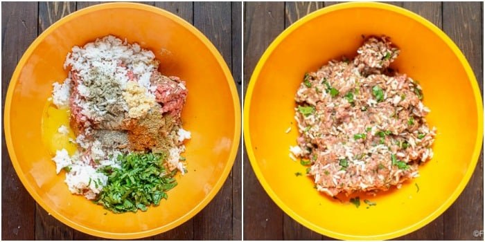 Meatball Preparation Photos for Instant Pot Albondigas Soup