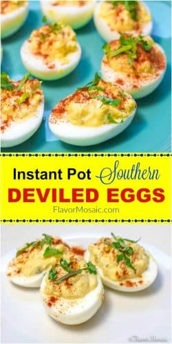 Instant Pot Southern Deviled Eggs Long Pin Flavor Mosaic