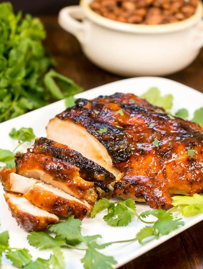 Peach Mango Habanero Grilled Turkey Breast