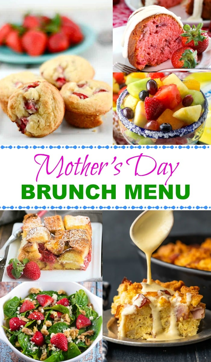 Mother's Day Brunch Menu Collage Pin