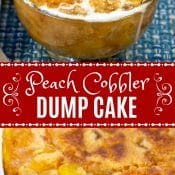 Peach Cobbler Dump Cake Long Pin