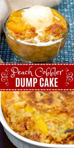 Peach Cobbler Dump Cake Long Pin