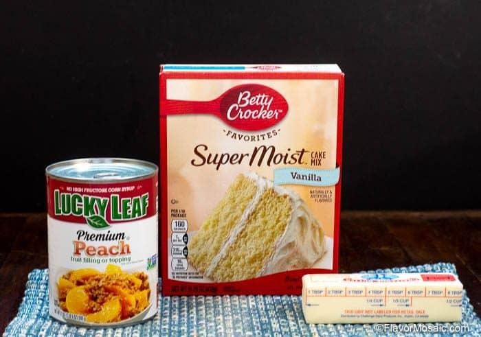 Peach Cobbler - Peach Dump Cake