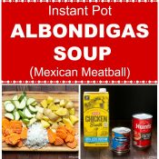 Albondigas - Mexican Meatball Soup - Step By Step Photo Collage - Long Pin