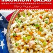 Best Classic Macaroni Salad Pin - Flavor Mosai