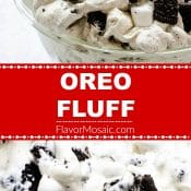 Long pin with red label (and white letters) for Oreo Fluff