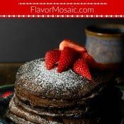 Chocolate Pancakes Recipe Flavor Mosaic 700x1050 Pin