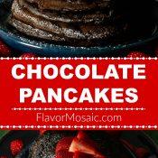 Chocolate Pancakes Recipe Long Pin Flavor Mosaic 700x1400