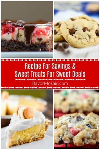 Photo Collage - Recipe For Savings & Sweet Treats for Sweet Deals Pin