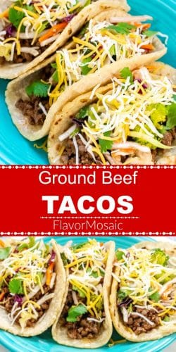 Ground Beef Tacos Long Pin Red Label Flavor Mosaic