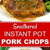 Instant Pot Smothered Pork Chops Long Pin Red Label Flavor Mosaic