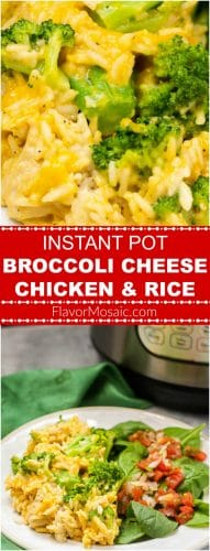 Instant Pot Broccoli Cheese Chicken & Rice Casserole Long Pin