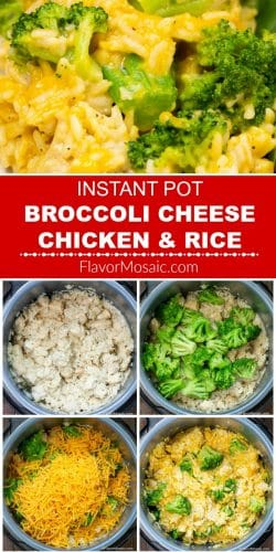 Pinterest Process pin for Instant Pot Broccoli Cheese Chicken & Rice Casserole Long Pin Process Pin
