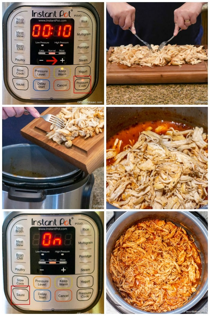 Instant Pot Chicken Tinga How To Make Step By Step Photos 2 Flavor Mosaic 2