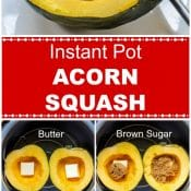 Instant Pot Acorn Squash Long Pin red label step by step photos