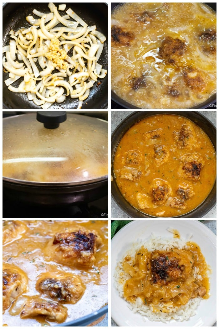 Cajun Braised Chicken with Gravy Step by Step Photos for 2nd half of recipe