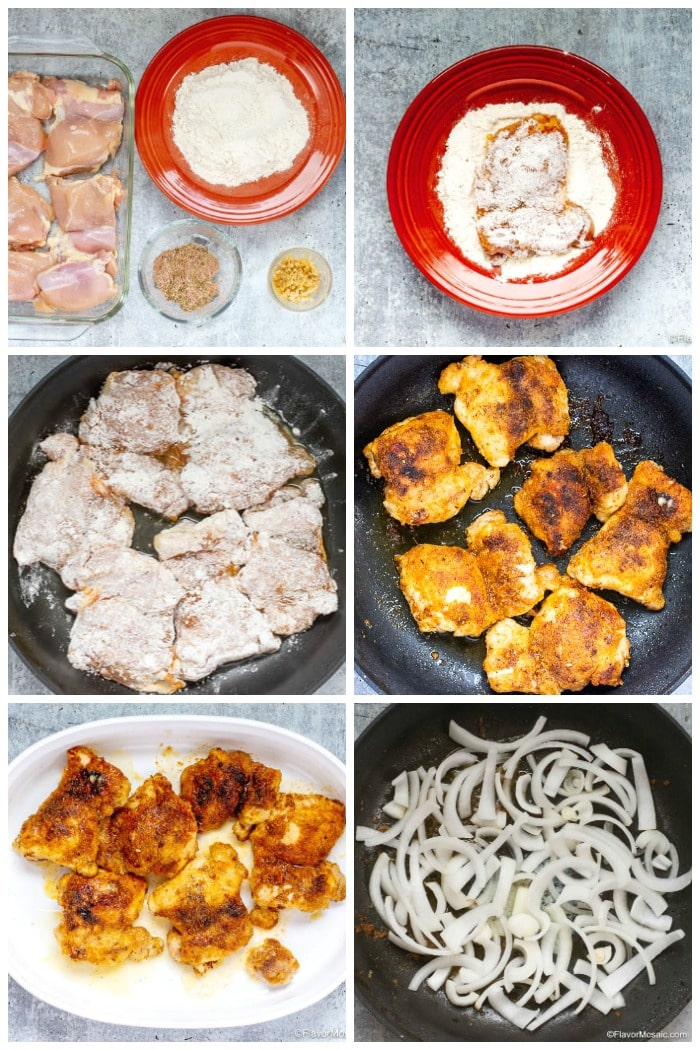 Cajun Braised Chicken With Gravy Step By Step Photos for First Half of Recipe
