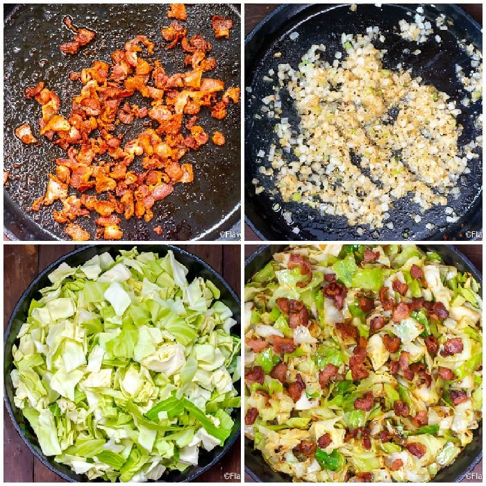 Step By Step Photos Of How To Make Fried Cabbage With Bacon